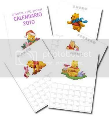 Calendario Winnie the Pooh 2010