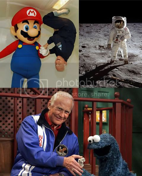 One of these men is Buzz Aldrin